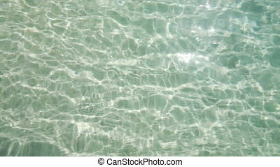 Clear water background with ripples - Video of rippled clear...