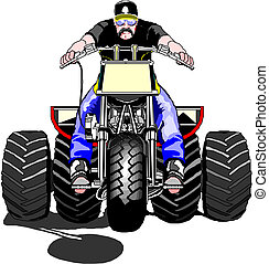 Extreme off-road vehicle rider - ATV extreme off-road...