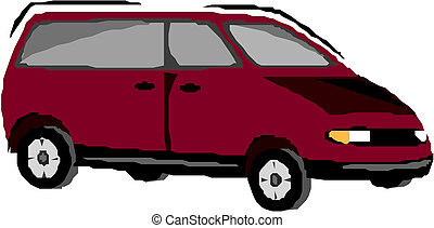 Vector illustration of a minivan