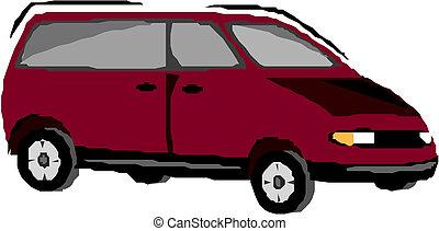 Vector illustration of a minivan