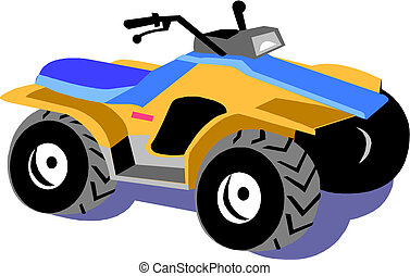 Four-wheel motorcycle - Quad bike - Four-wheel motorcycle