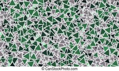 green triangles block mosaics wall,game brick,abstract math...