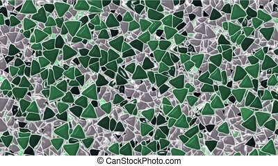 plastic triangles block mosaics wall,abstract math geometry.