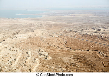 View to the Dead sea from Masada