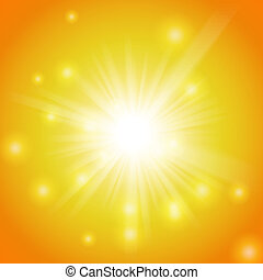Abstract magic yellow light background - Abstract magic...