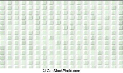 white plastic square & block brick matrix wall,like cream...