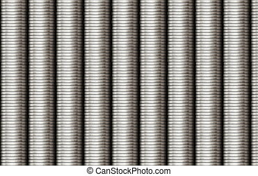 Steel Coils Metal Texture as Piping Background