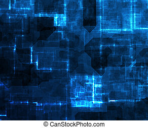 Abstract Cyberspace Technology Background in Blue tones