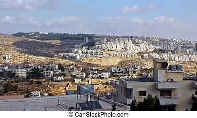 Panoramic view to Bethlehem, Palestine