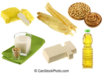 Different Soybean Products - Different Soybean (Soya beans)...