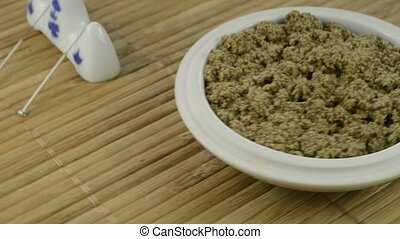 Chinese medicine tools, moxibustion wool and acupuncture...