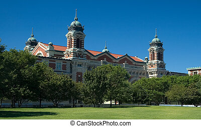 Ellis island building - ellis island building in new york