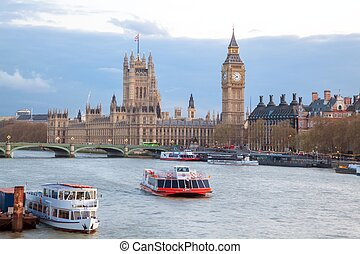 Big Ben and Westminster Bridge London - Cityscape of Big Ben...