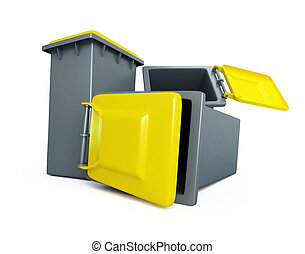 utilization of garbage isolated on a white background