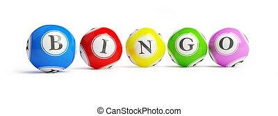 bingo balls on a white background