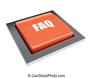 red button faq on a white backgroun