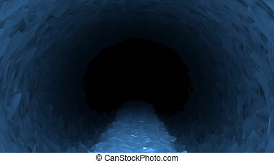 Path Through Ice Cave Background - Animated walk along...