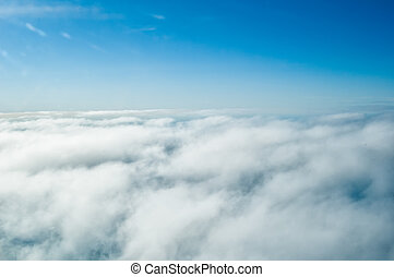 Above clouds - View above the earth at clouds below
