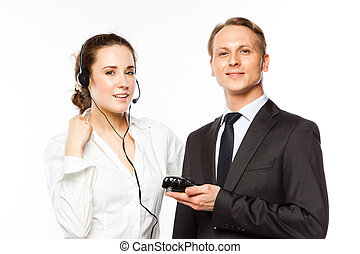 Car Insurance - young man and woman are holding a toy car