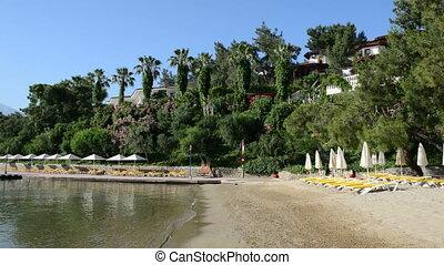 Beach on Mediterranean resort - Beach on Mediterranean...