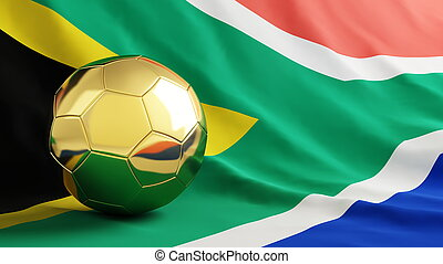 south africa flag gold ball