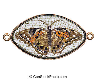 antique mosaic - antique Italian glass butterfly mosaic