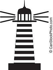 Lighthouse %u041C%u0430%u044F%u043A - Lighthouse in the sea...