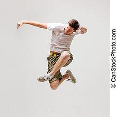 macho, bailarín, Saltar, Aire