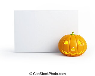 halloween blank isolated on a white background