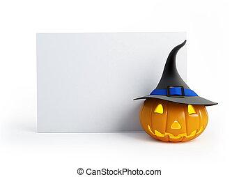 Halloween pumpkin - Halloween blank isolated on a white...