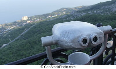 Coin-Operated Binoculars - Binocular tower viewer in...