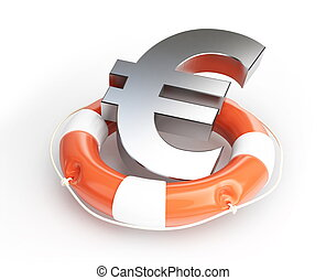 lifebelt euro isolated on a white background