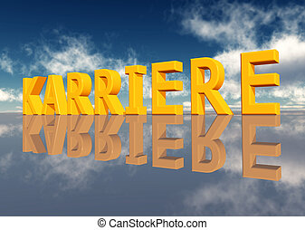 Karriere - Computer generated 3D illustration with the...