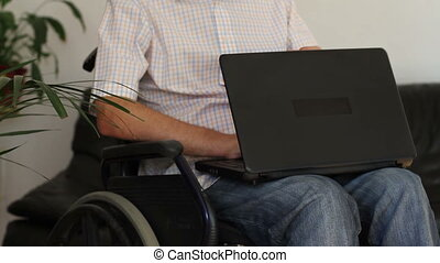 Businessman in wheelchair
