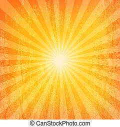 Sun Sunburst Grunge Pattern. Vector illustration