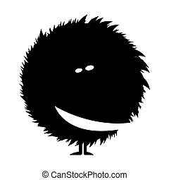 silhouette of a shaggy monster