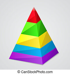 Pyramid - Infographic - 3D vector colorful pyramid