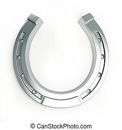 horseshoe on a white background