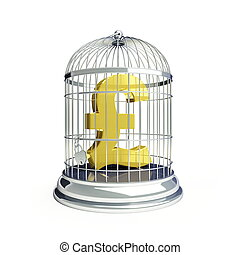 pound in a cage for birds