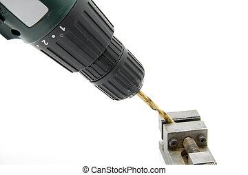 Accumulator drill with drill