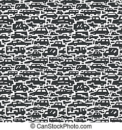 cars motion - seamless background