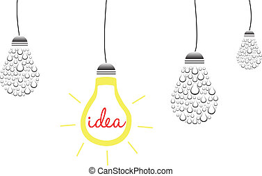 Brilliant Idea Concept Vector Illustration