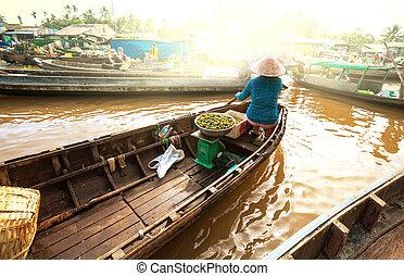 Mekong Delta - Mekong river, Vietnam