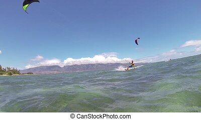 Kite Surfing, Fun in the Ocean, Extreme Sport