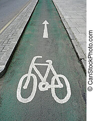 Cycle Lane - Eco-friendly special cycle lane in central...