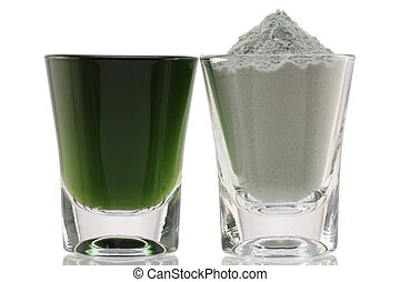 Chlorophyll Fine Powder - Closeup photo of Chlorophyll Fine...