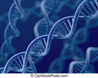 DNA on blue background - 3d render of DNA on blue background...
