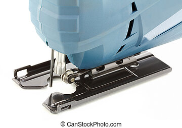 Professional Electric Jig Saw - Closeup Photo of...