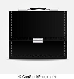 Leather brief case iconVector illustration