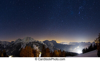 Star mountains - Magnificent image of lots of stars in the...